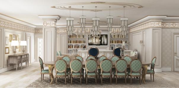 Дизайн гостиной с барной стойкой в Астане