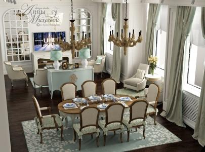 Дизайн красивой гостиной в Астане