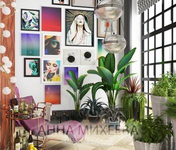 Дизайн гостиной комнаты на заказ