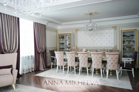 Дизайн гостиной в ЖК Орынбор