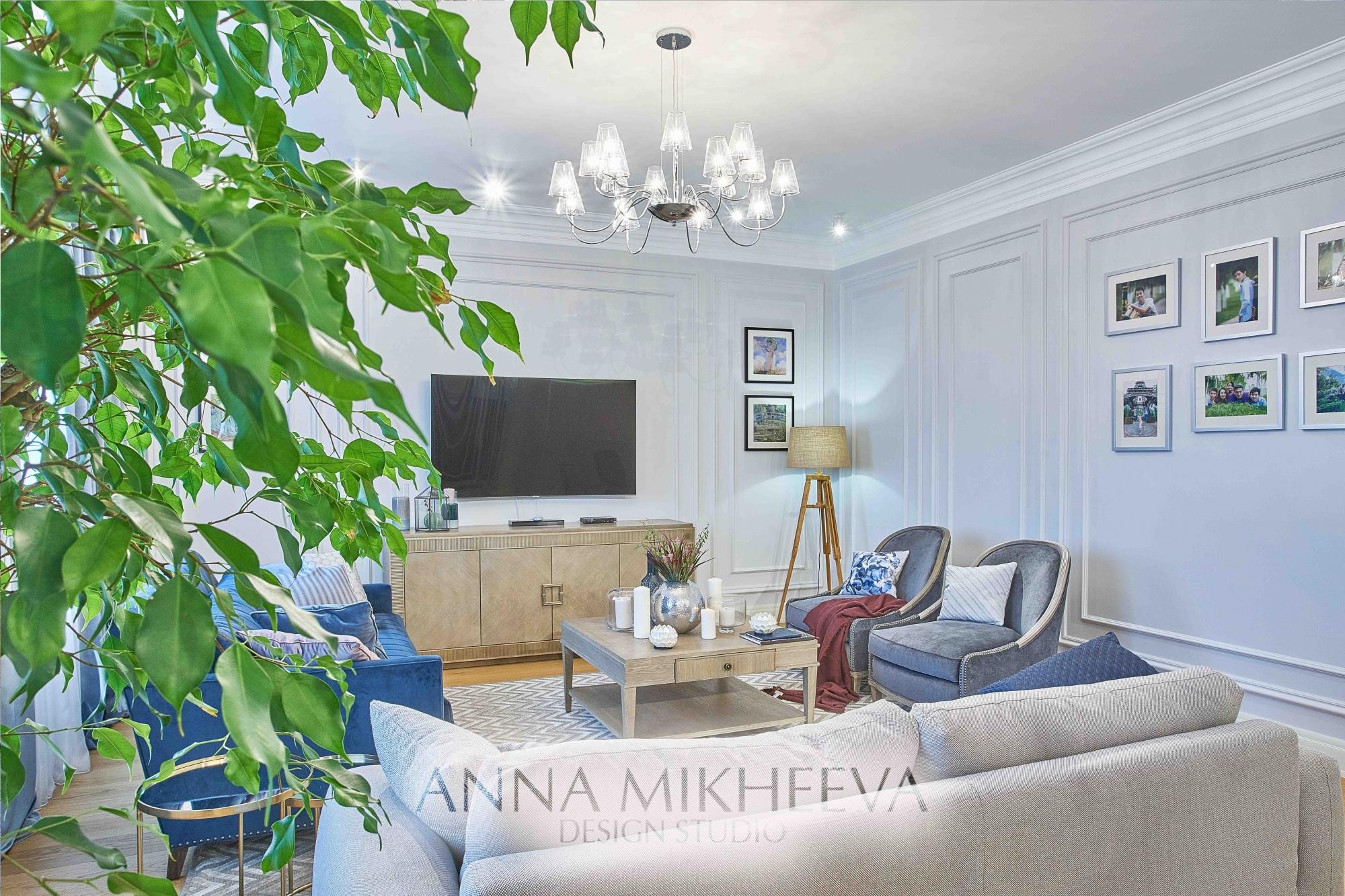 Дизайн гостиной ЖК ОРКЕН DE LUXE. В Нур-султане. Фото.