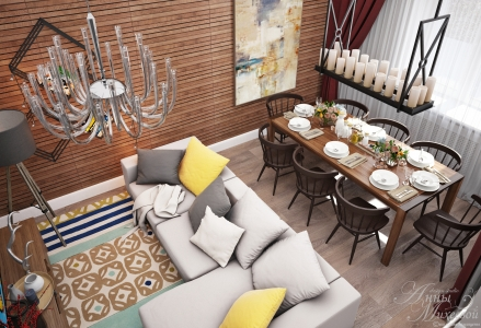 Дизайн маленькой гостиной в Астане