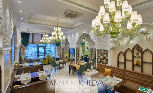 Дизайн ресторана в марокканском стиле в Астана