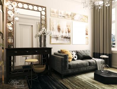 Дизайн интерьера гостиной.