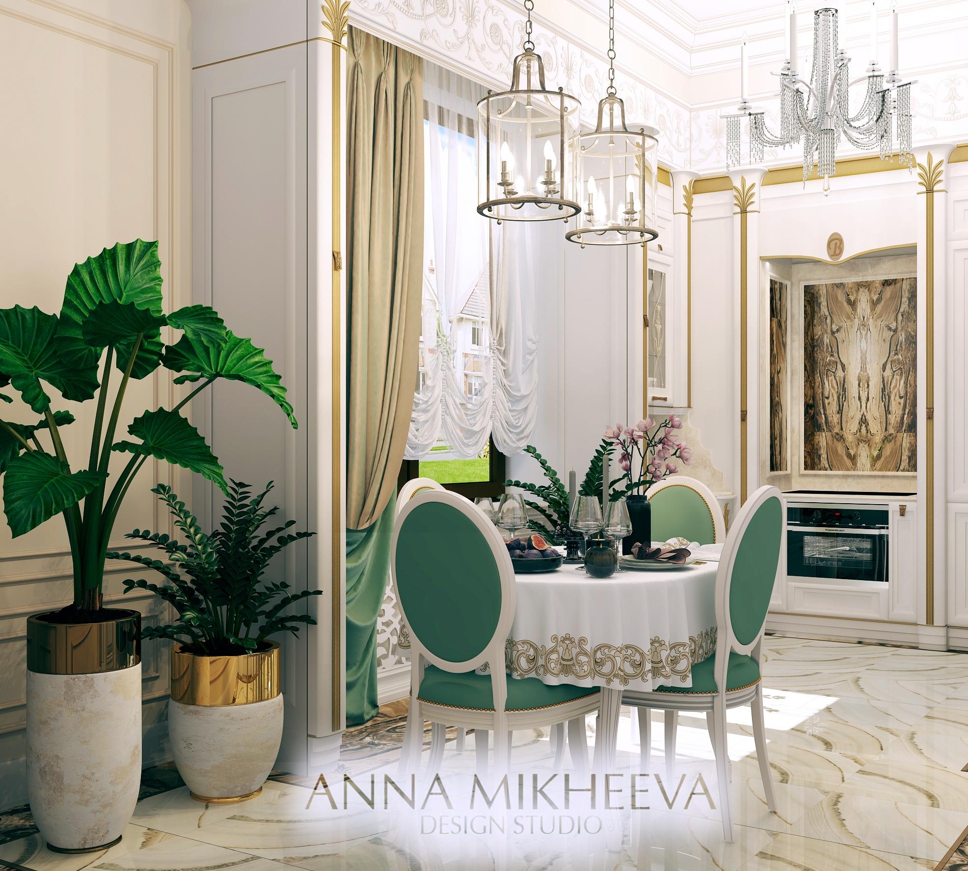 Белая кухня. В Астане. Фото.