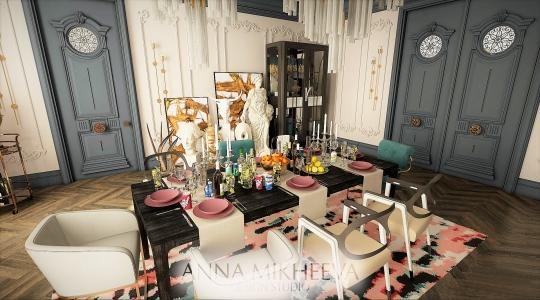 Шикарный дизайн гостиной в Астане