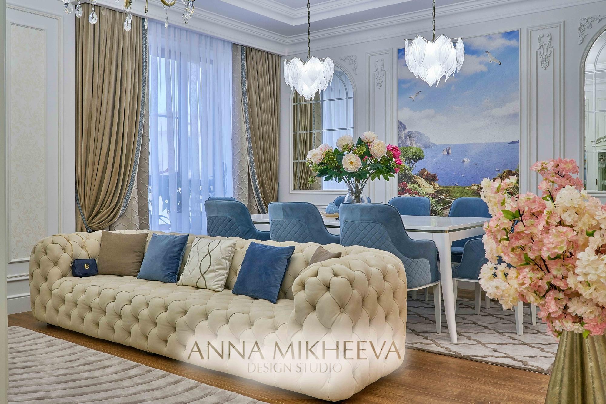 Дизайн гостиной фото. Астана