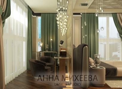 Дизайн спальни в современном стиле в Астане
