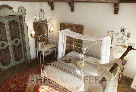 Спальня в кантри