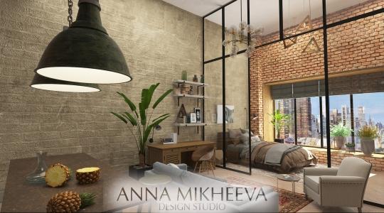 Дизайн однокомнатной квартиры.