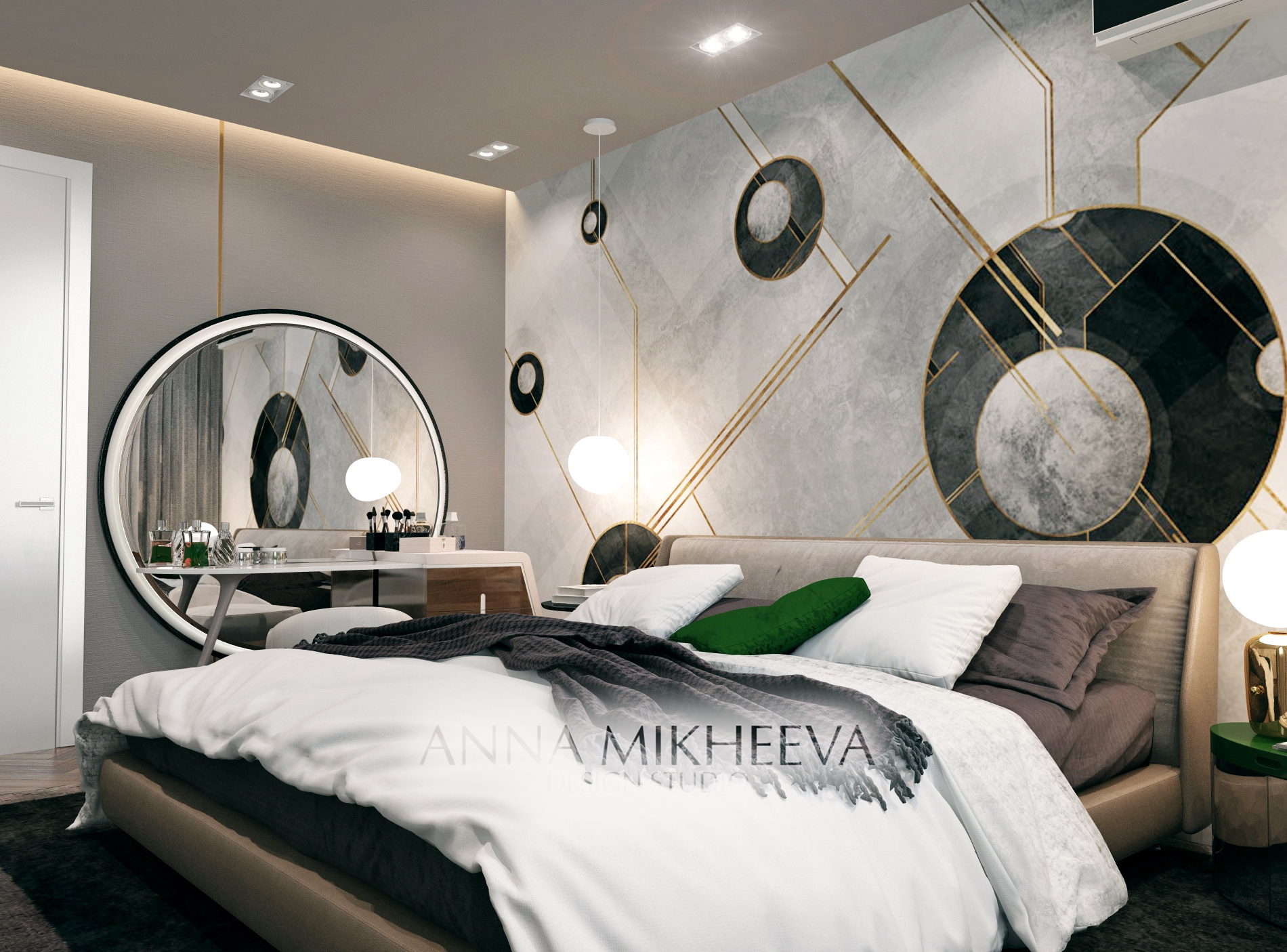 Дизайн спальни фото. Астана.