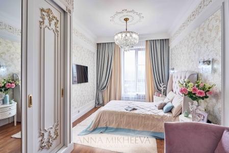Дизайн спальни шторы
