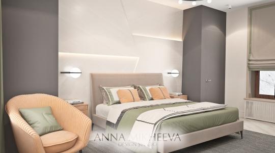 Дизайн спальни в ЖК Саранда