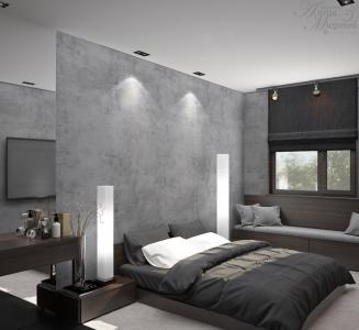 Современный дизайн спальни в Астане