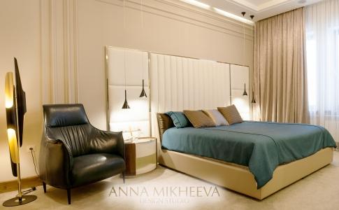 Дизайн спальни в ЖК Лондон в Астане