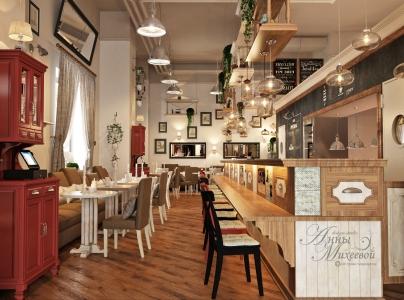 Современный дизайн кафе в Астане