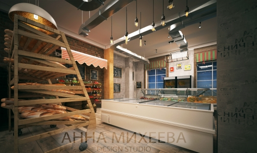 """Дизайн магазина """"Appetit""""  в Астана"""