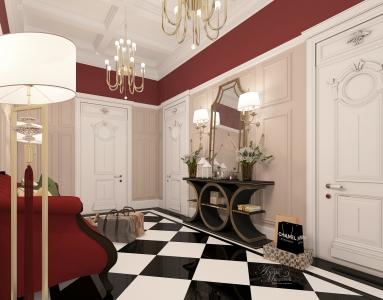 Холл с лестницей в частном доме