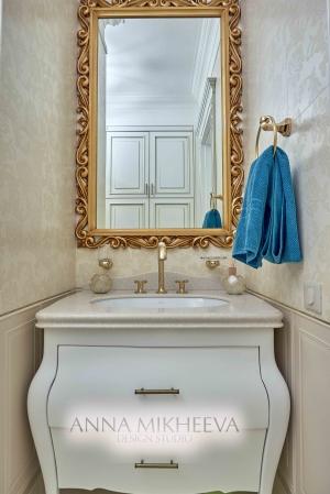 Интерьер ванной комнаты обои на стенах