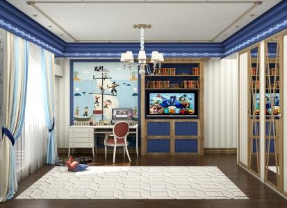 Дизайн детской для мальчика в Астане