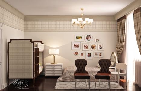 Дизайн детской комнаты - спальни в Астане
