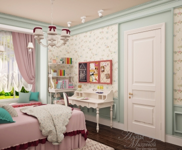 Дизайн спальни для девочки в Астане