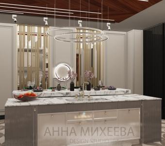 Дизайн кухни в ЖК Зеленый квартал в Астане