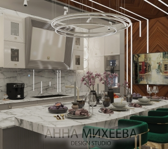 Кухня в ЖК Зеленый квартал