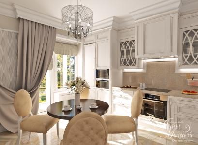 Дизайн кухни с балконом в Астане