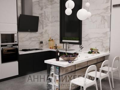 Дизайн кухни студии