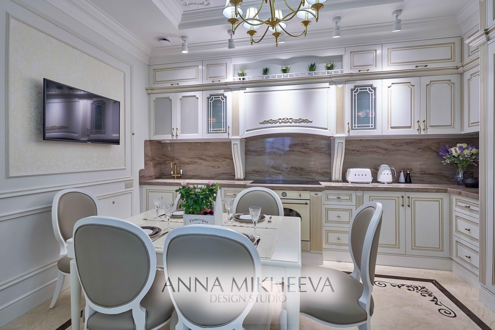 Интерьер кухни 2018 года. В Астане. Фото.