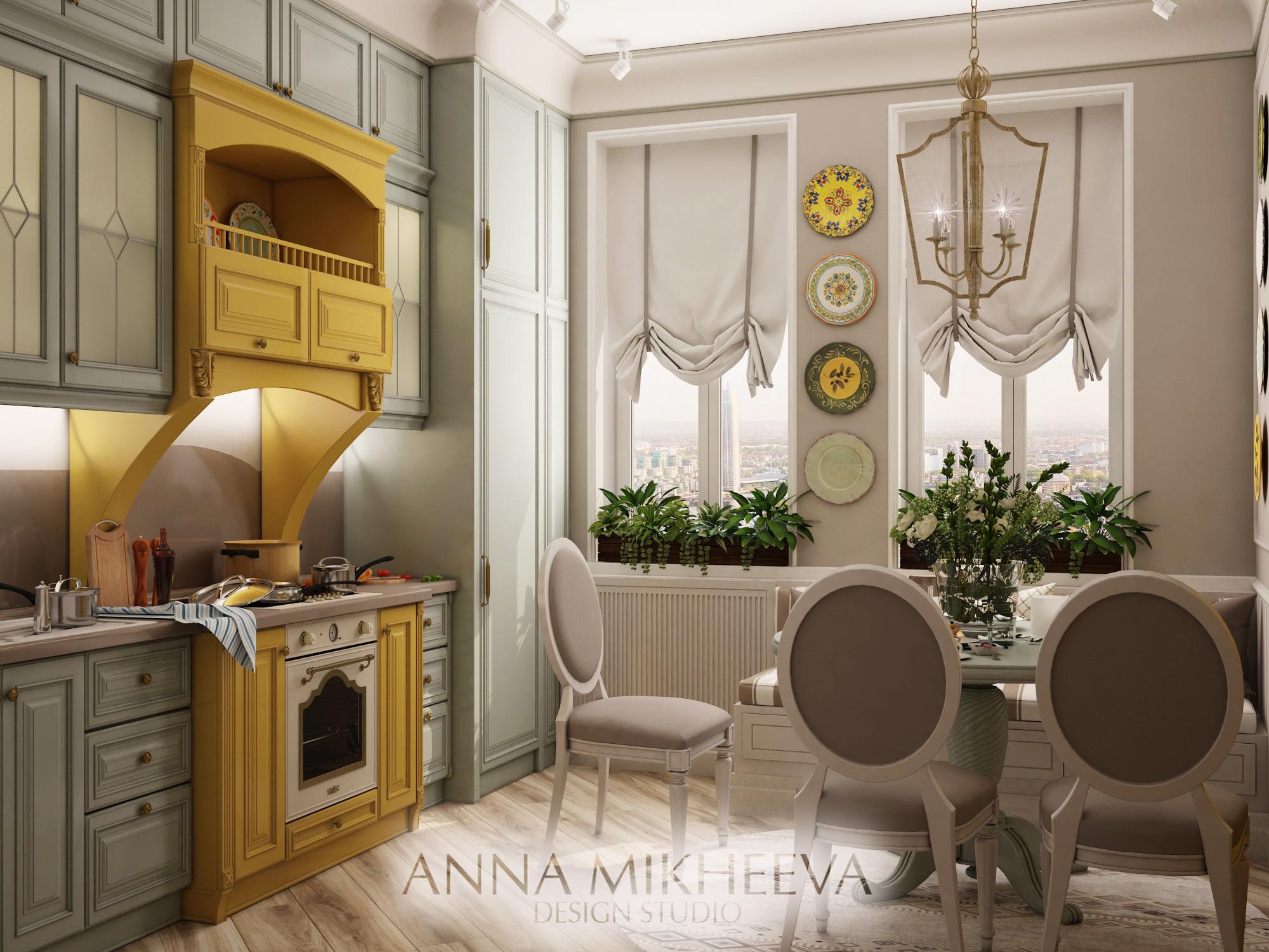 Красивый интерьер кухни. В Нур-Султане (Астане). Фото.