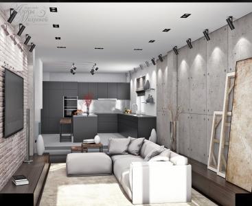 Дизайн кухни гостиной.