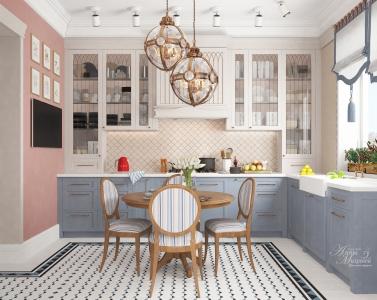Дизайн угловой кухни в Астане