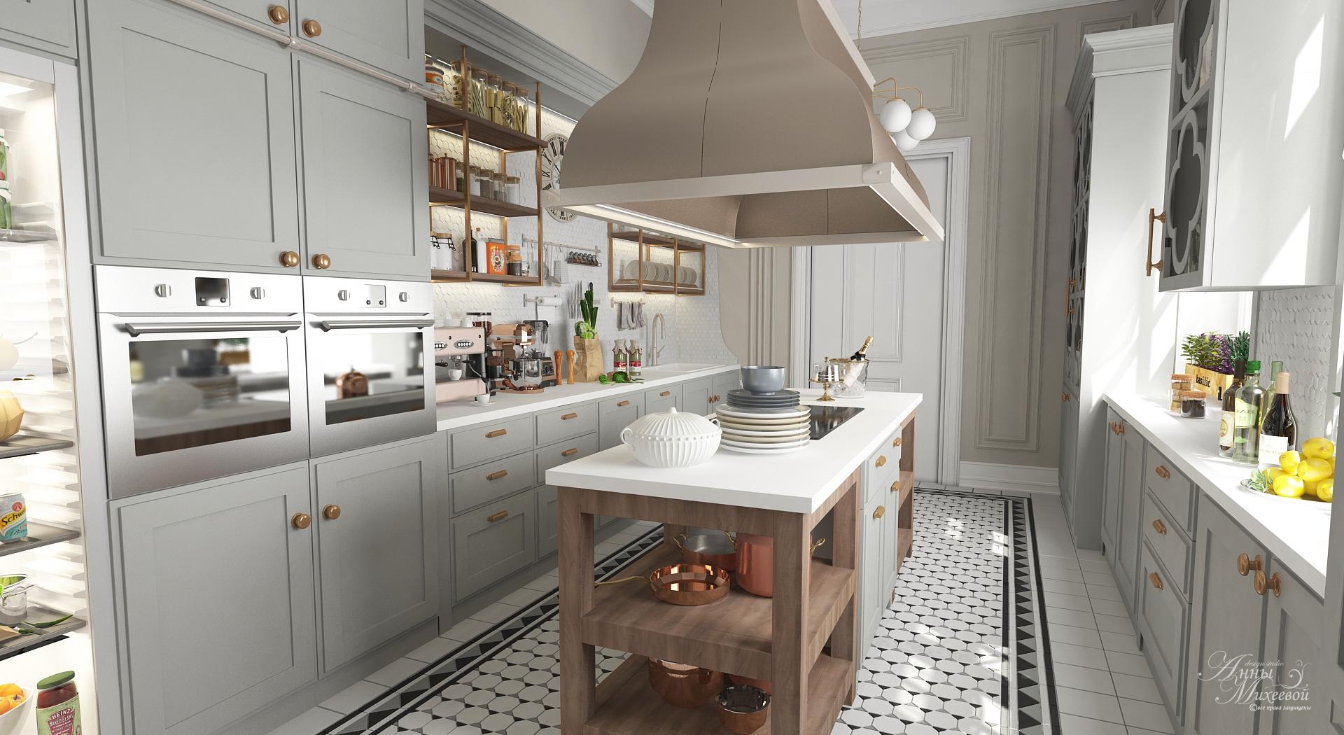 Дизайн кухни в квартире. В Астане. Фото.