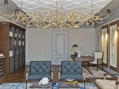 Дизайн большого кабинета в Астане